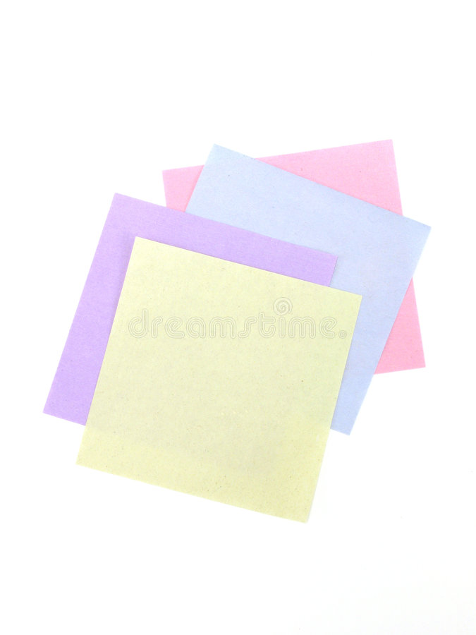 Notes. Paper to make  A photo of a Post-It royalty free stock images