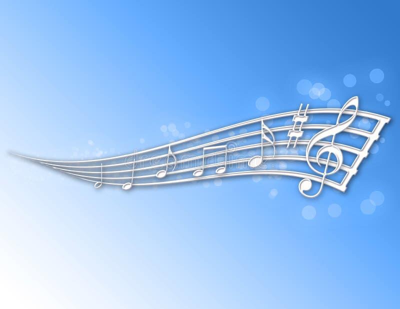 Notes abstraites de musique ! illustration stock