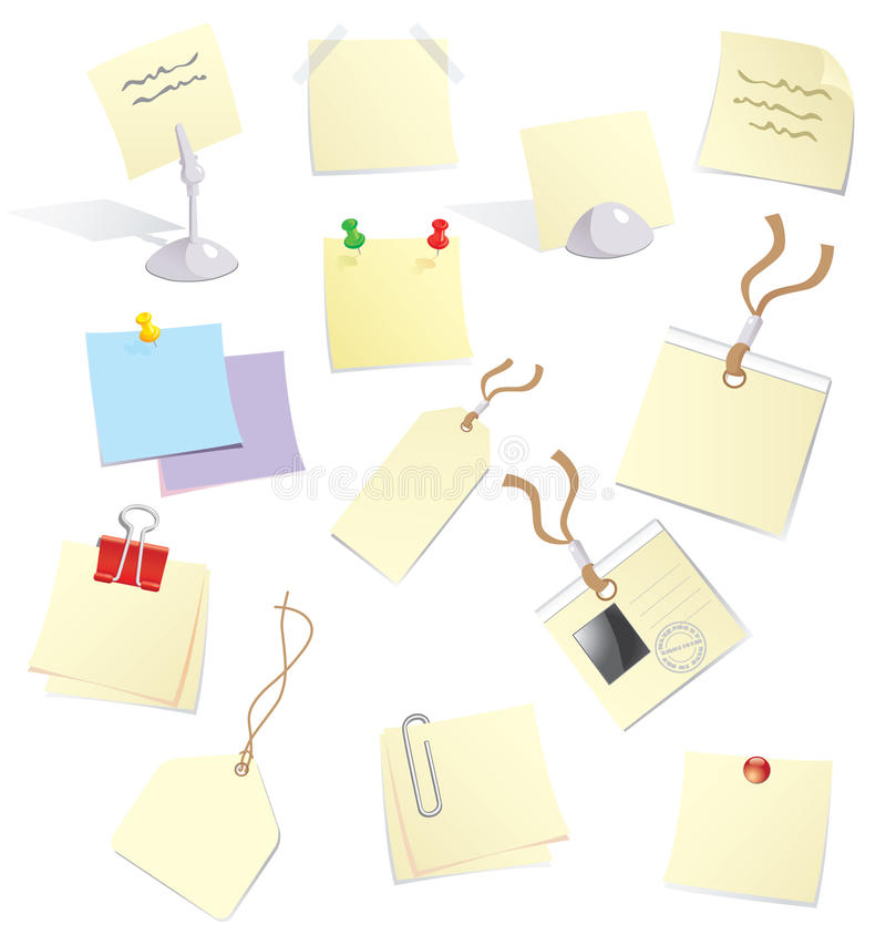 Free Notes And Stickers Stock Photo - 11652340