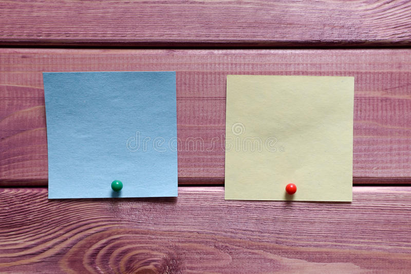 Notes, autocollants photos libres de droits
