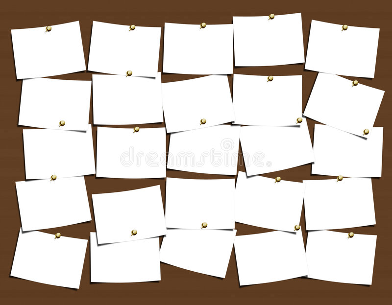 Notes Board. For easy use and populate with your thoughts royalty free illustration