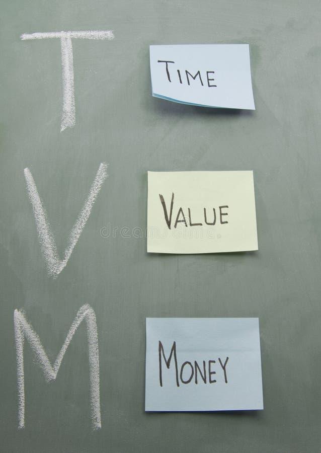 Notes collantes d'argent de valeur de temps image stock