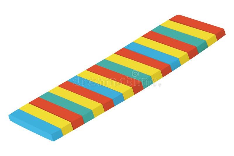 Notes collantes multicolores de courrier d'isolement sur le blanc illustration stock