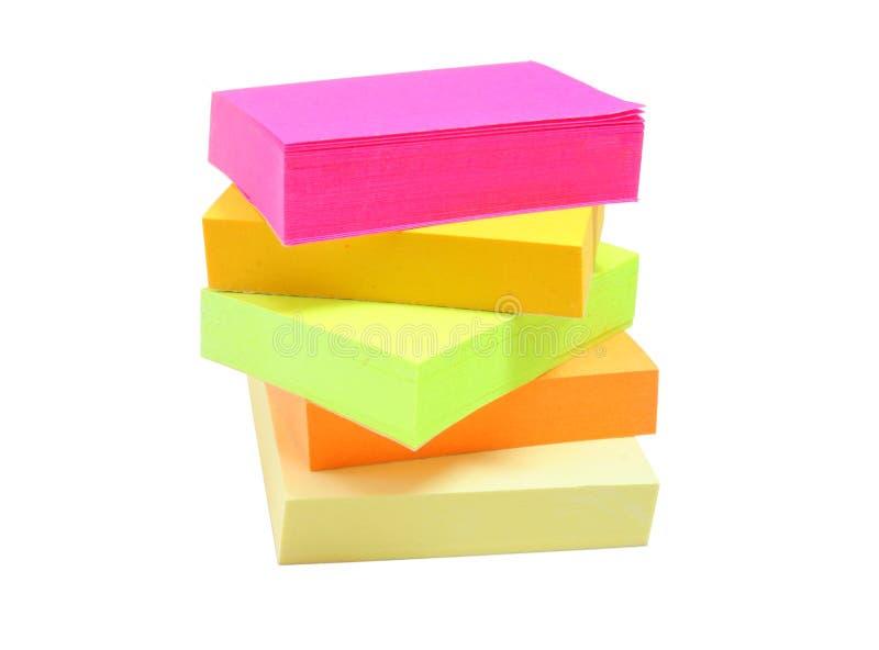 Notes colorées photo stock