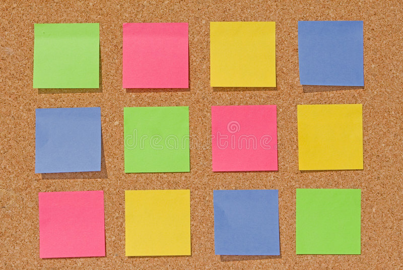 Notes On Cork Board Royalty Free Stock Images