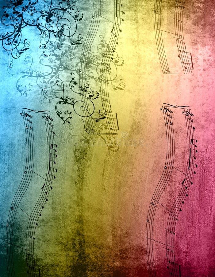 Notes décoratives de musique illustration de vecteur