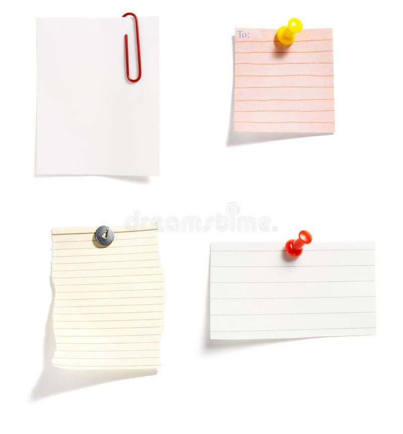 notes de 4 groupes image stock