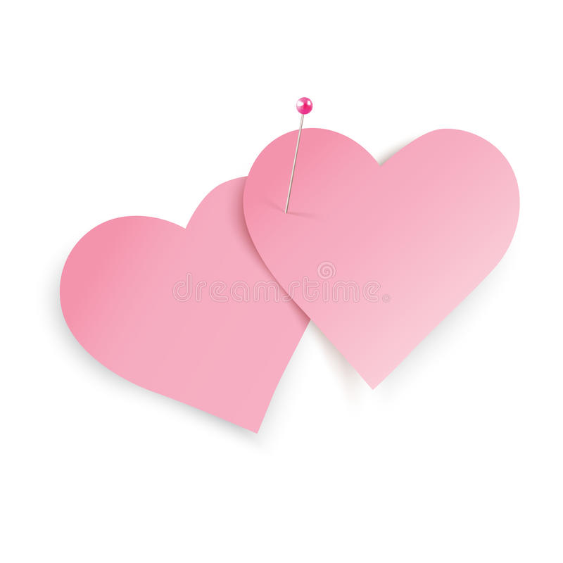 Notes de coeur illustration libre de droits