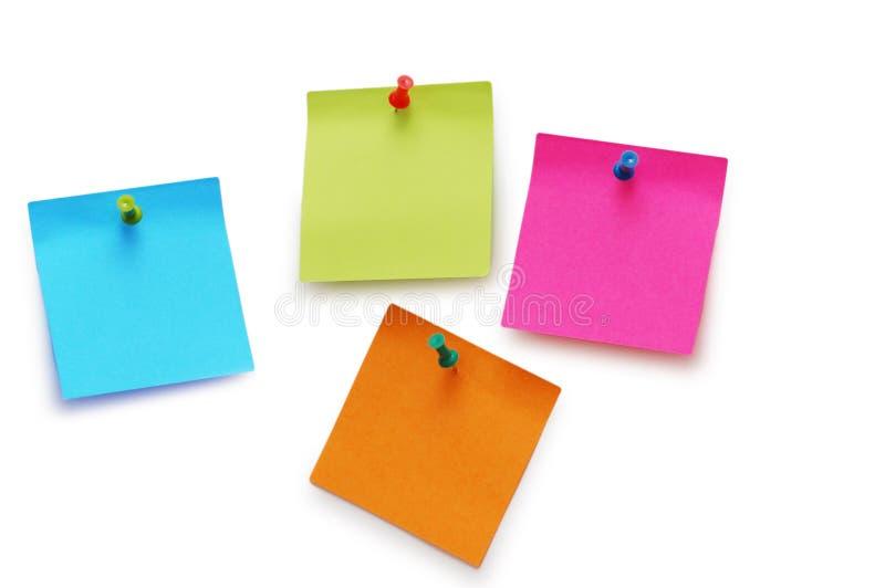 Notes De Collant D Isolement Images libres de droits