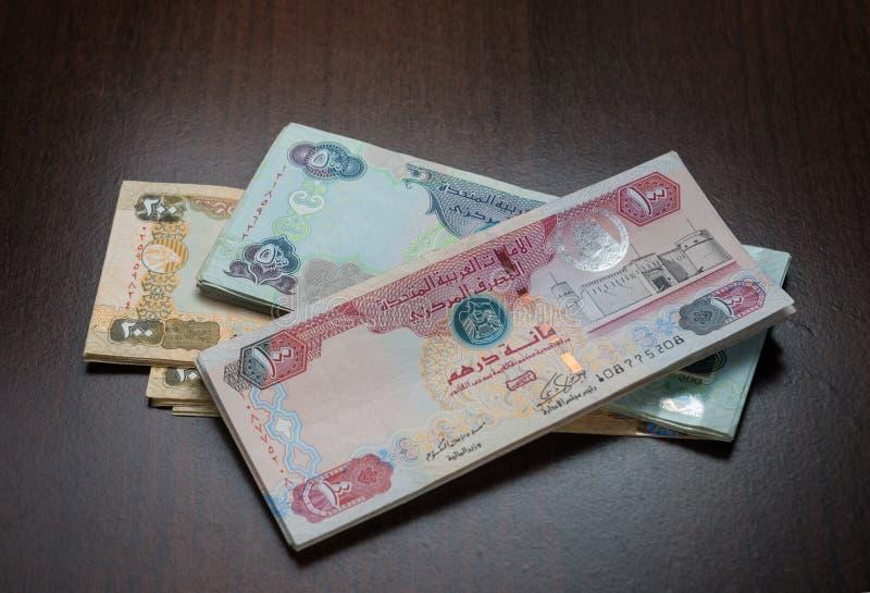 Notes de devise de dirham des EAU images stock
