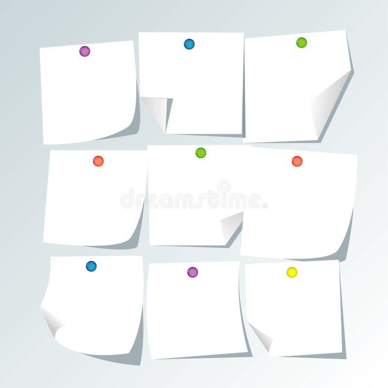 Notes de livre blanc illustration libre de droits