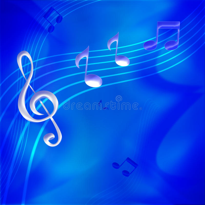 Notes de musique illustration libre de droits