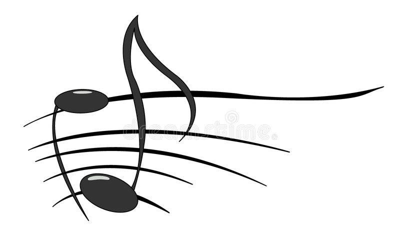 Notes de musique illustration stock