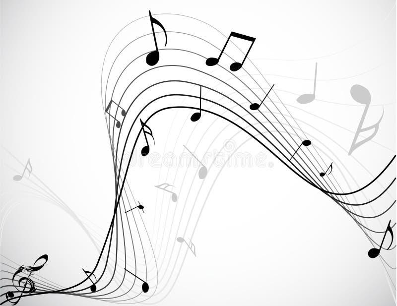 Download Notes de musique illustration de vecteur. Illustration du triple - 8666116