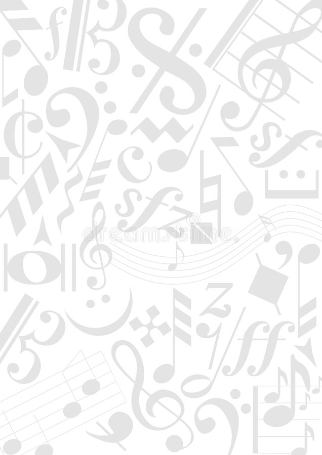 Notes de musique de fond illustration de vecteur