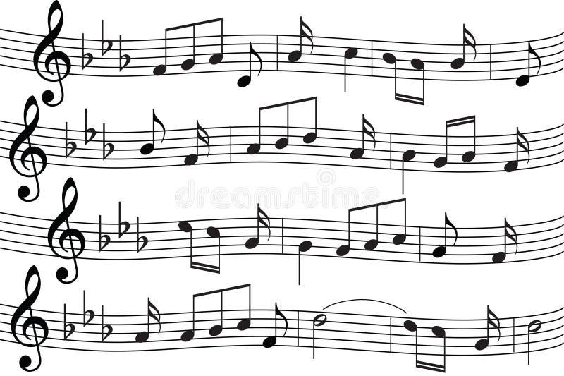 notes de musique de fond illustration stock