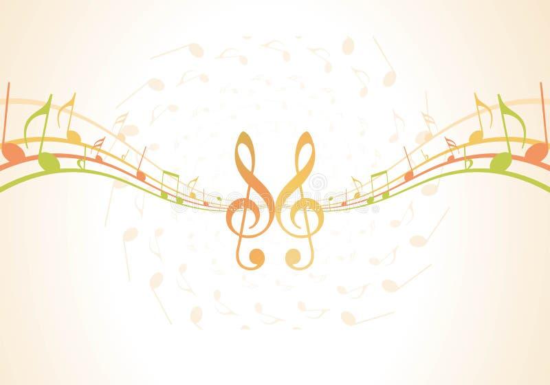 Notes de musique pour l'usage coloré de conception illustration de vecteur