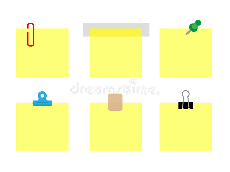 Notes de post-it illustration de vecteur