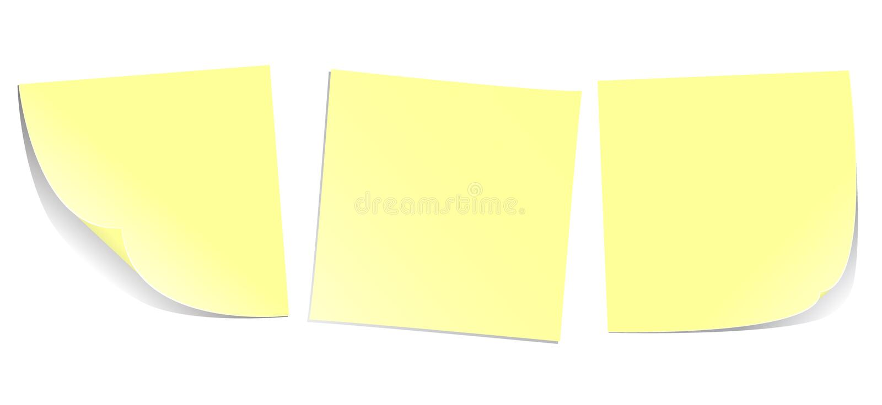 Notes de post-it illustration stock