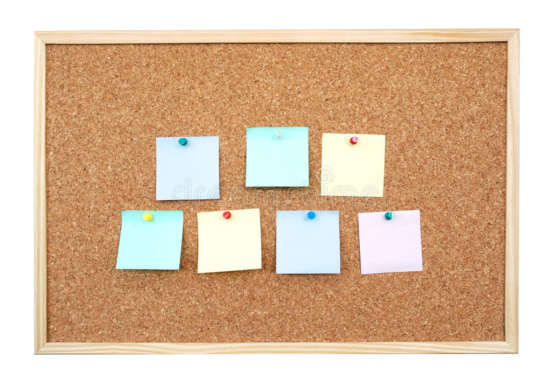 Notes de post-it photographie stock libre de droits