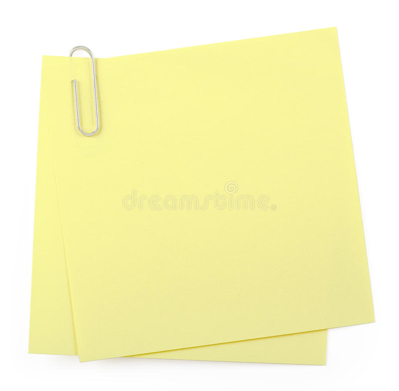 Notes de post-it image libre de droits