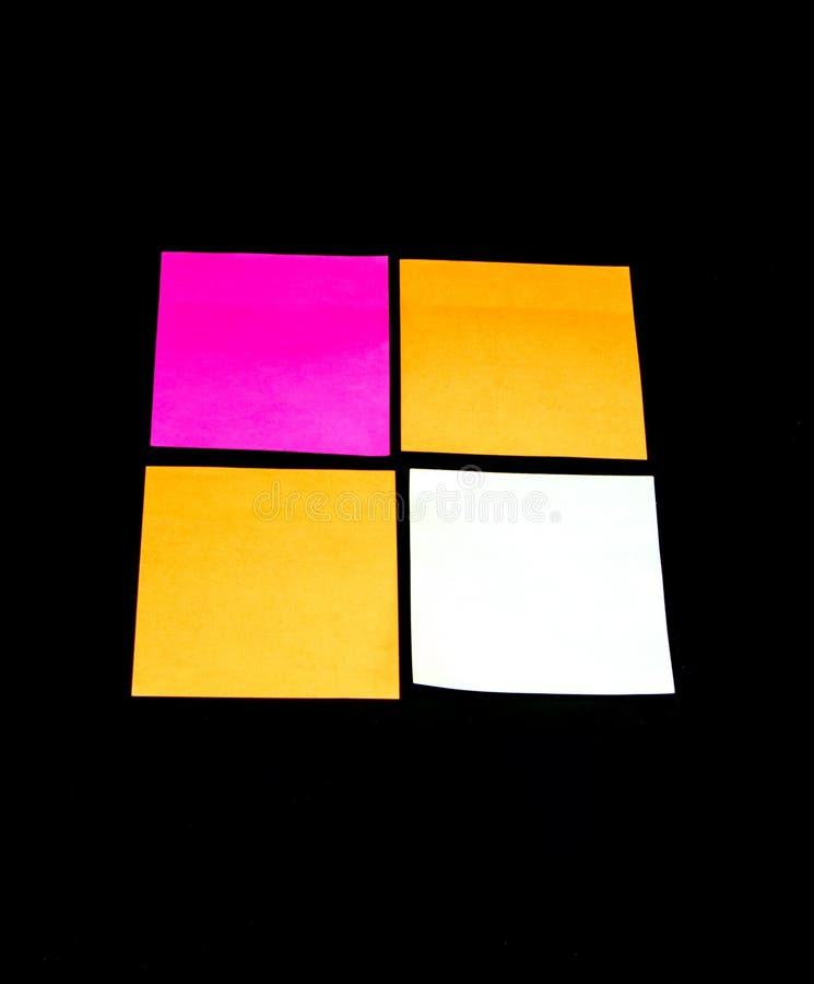 Notes de post-it colorées photo libre de droits