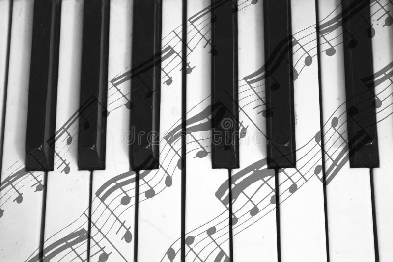 Notes du forte et du piano photos stock