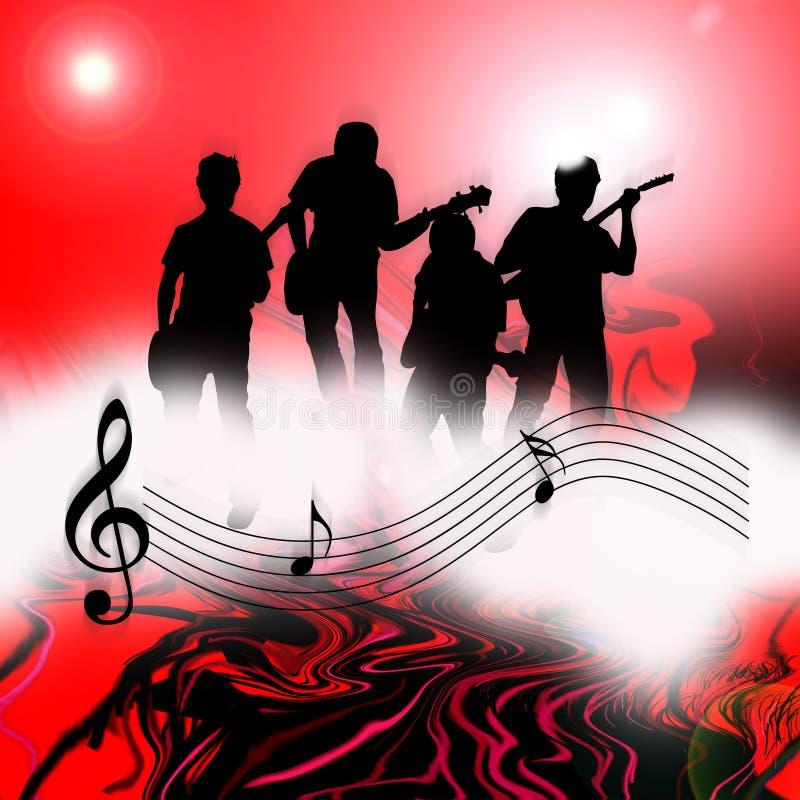 Notes du monde de musique d'Internet illustration libre de droits