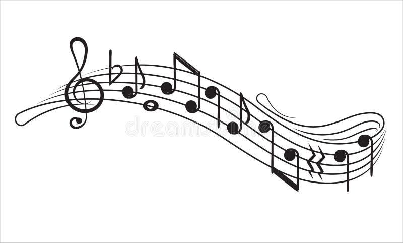 Notes et g-clef de musique sur le personnel de musique de ?, élément décoratif pour votre conception illustration de vecteur