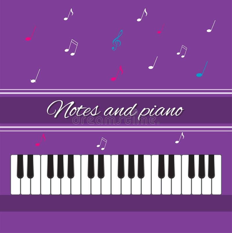 Notes et piano Clés de piano photographie stock libre de droits