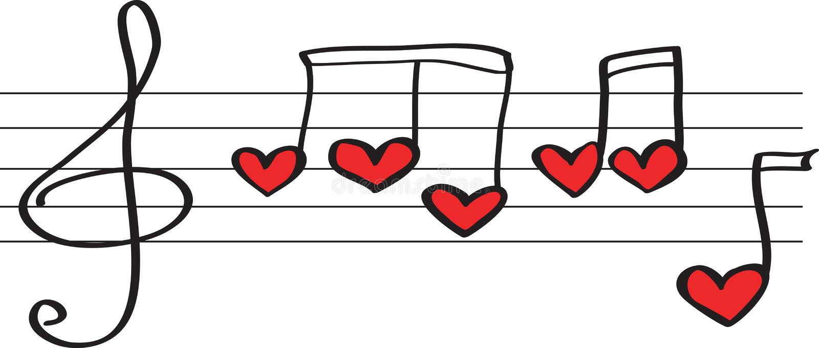 Notes in form hearts royalty free stock photography