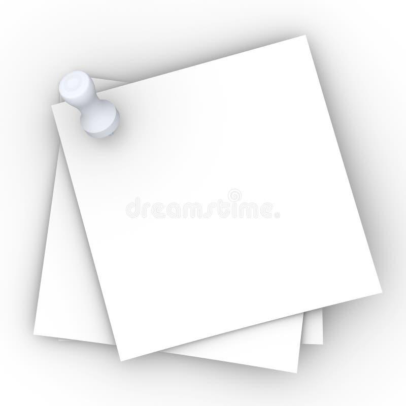 notes goupillées illustration stock