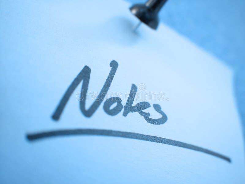 Notes? I Photographie stock libre de droits