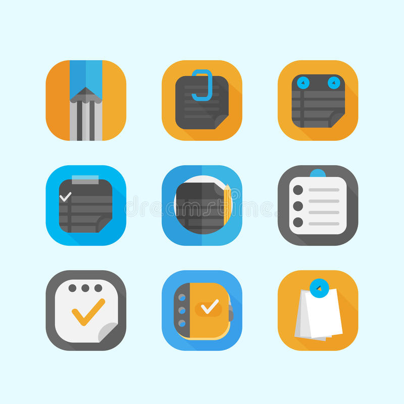 Notes icons stock photography