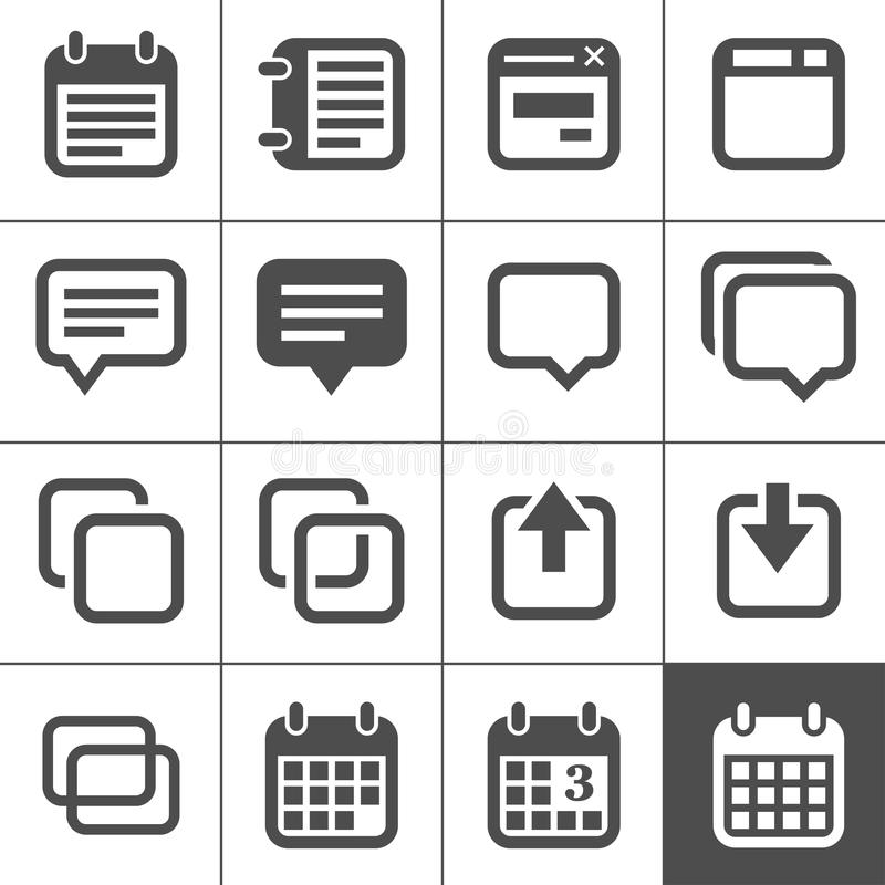 Download Notes, Memos And Plans Icons Stock Vector - Illustration: 28769329
