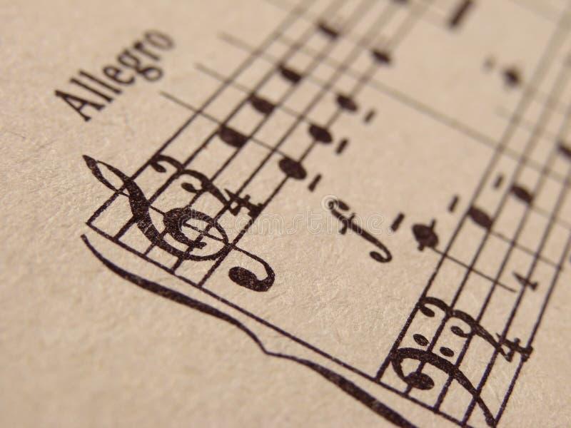 Notes musicales photos stock