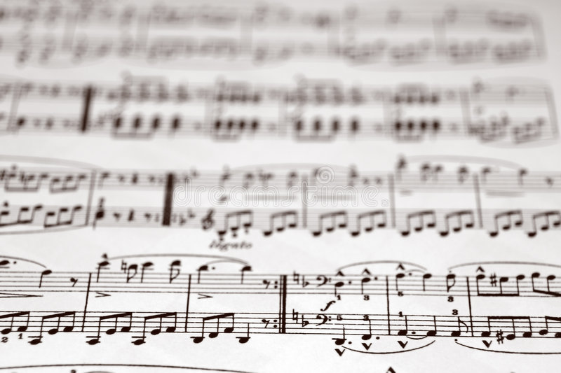 Notes musicales photographie stock