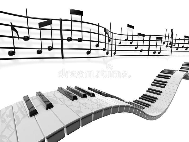 Notes musicales illustration libre de droits