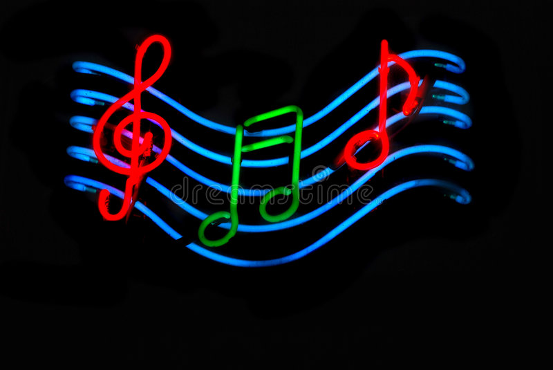 Notes musicales stockfoto