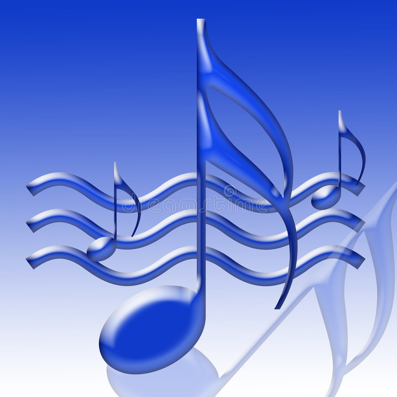 Notes musicales bleues illustration stock