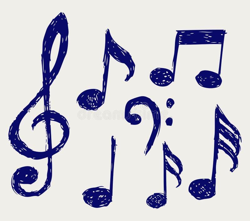 Notes musicales de vecteur illustration de vecteur