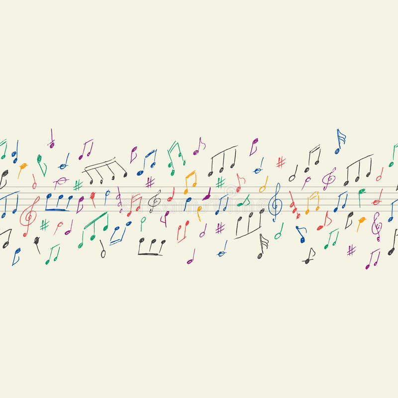 Notes musicales sans couture illustration stock