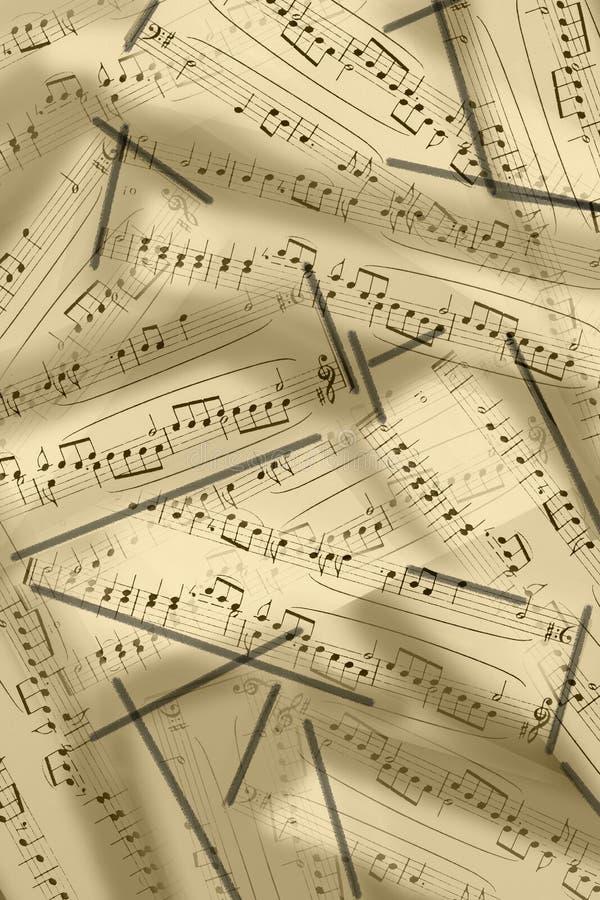 Notes musicales sur une illustration de portée photographie stock libre de droits