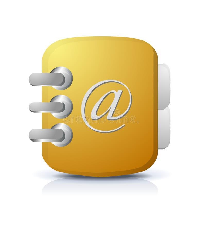 notes na adresy ikona royalty ilustracja