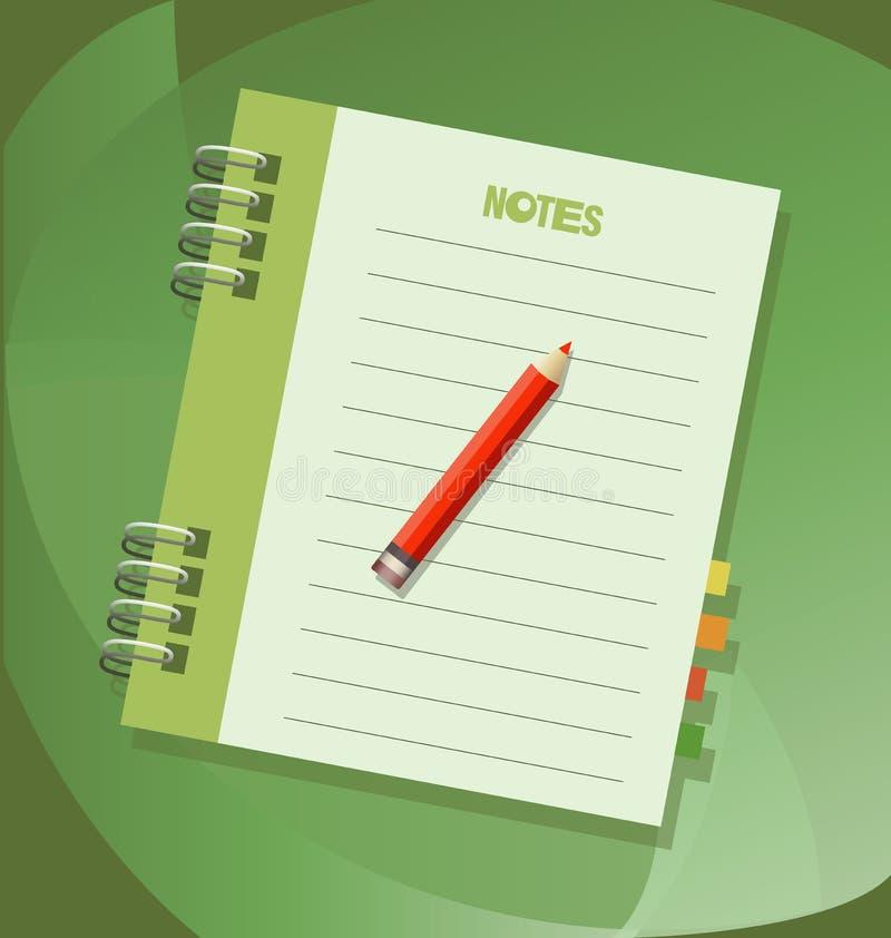 Notes. Notebook. Icon, emblem. stock illustration