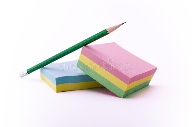 Notes And Pencil Stock Photos