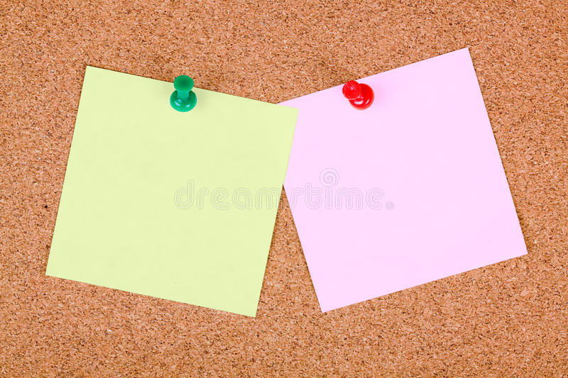 Download Notes Pinned To Cork Board. Stock Image - Image of blank, nature: 11928611