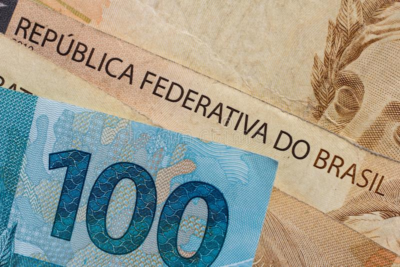 Notes Of Real Brazilian Currency Money From Brazil Stock Photo