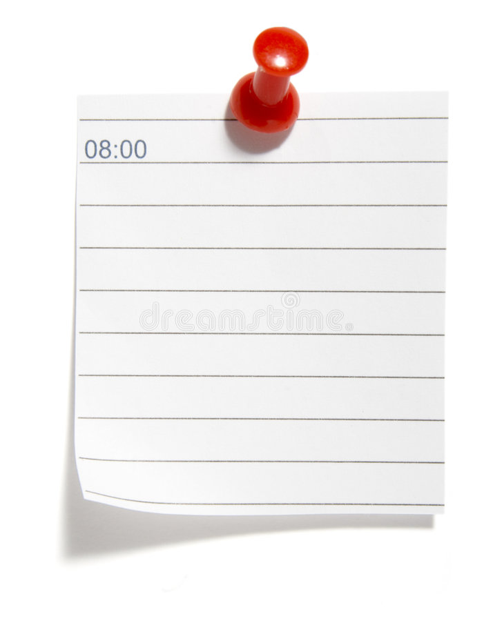 Download Notes schedule stock image. Image of appointment, attach - 8221463