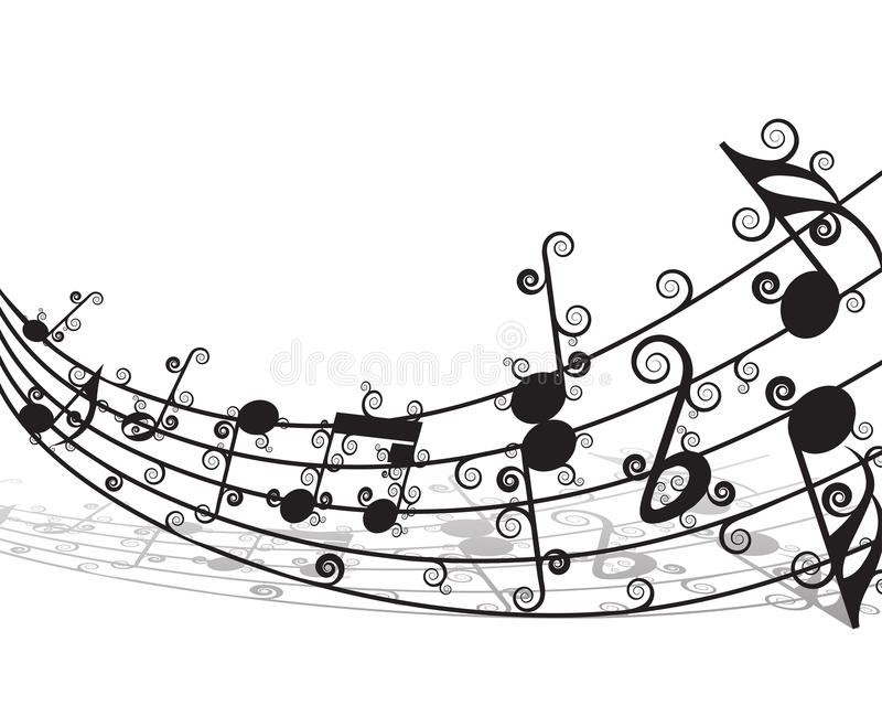 notes staff stock vector illustration of floral artistic 11356536 rh dreamstime com Music Notes SVG Single Music Notes